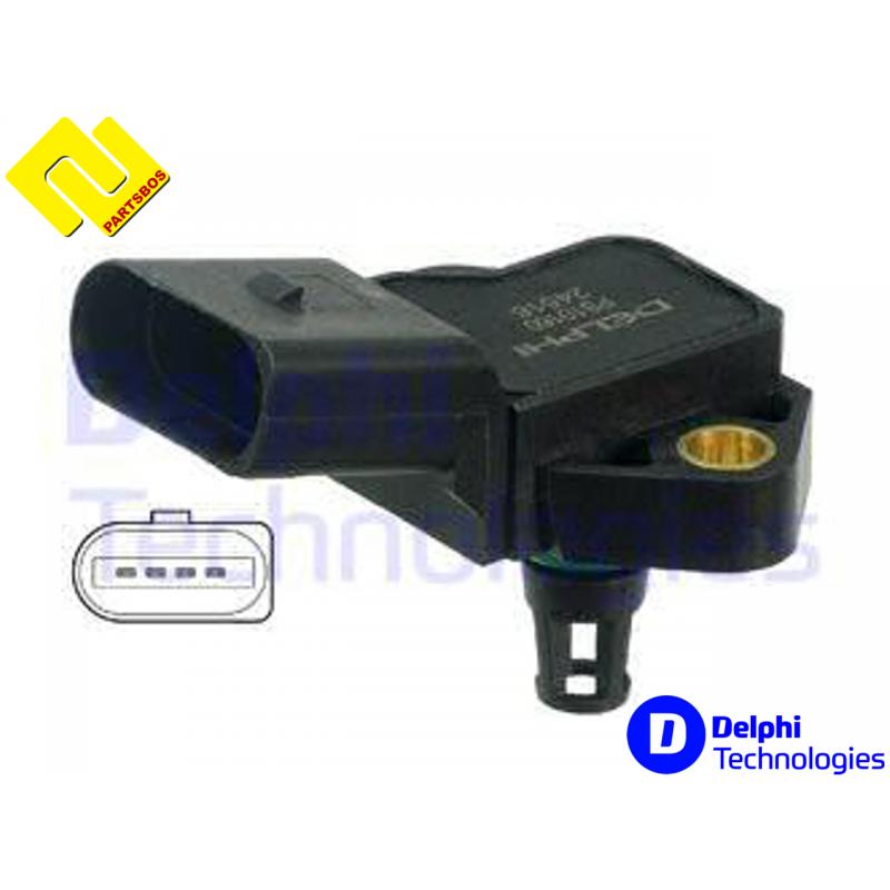 DELPHI PS10160 , Intake Manifold Pressure Sensor MAP ,036 906 051F , https://partsbos.shop/