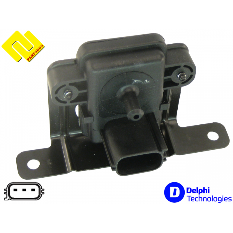 DELPHI PS10126 , Intake Manifold Pressure Sensor MAP , https://partsbos.shop/