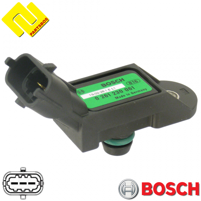BOSCH 0261230061 Intake Manifold Pressure Sensor MAP ,PARTSBOS