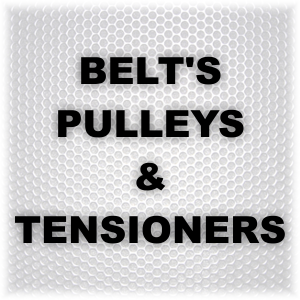 BELT'S PULLEYS and TENSIONERS